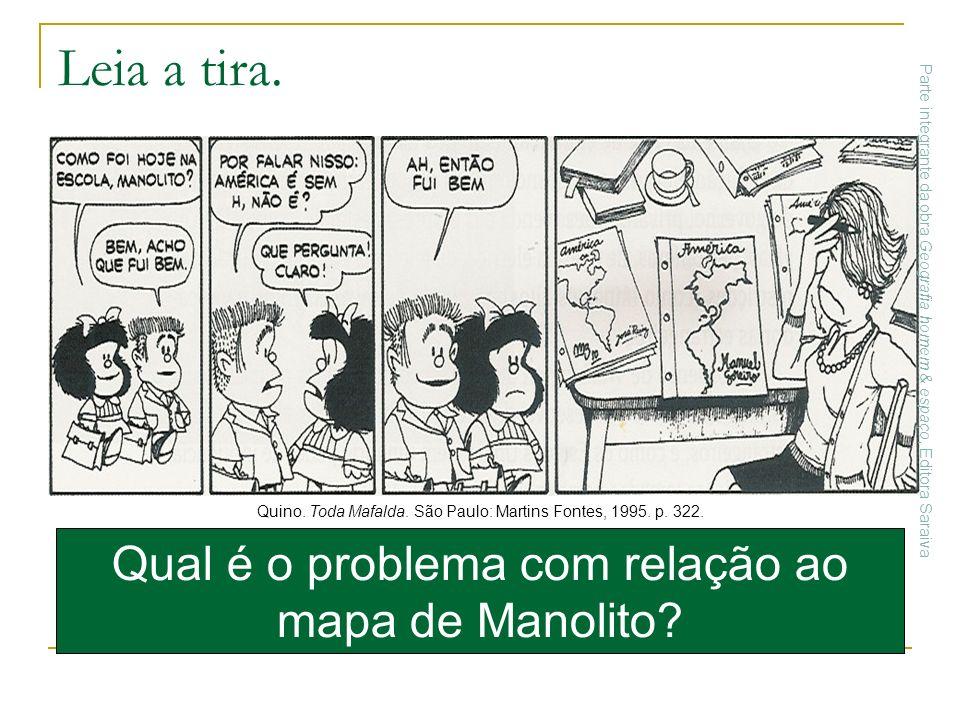 Qual é o problema com relação ao mapa de Manolito