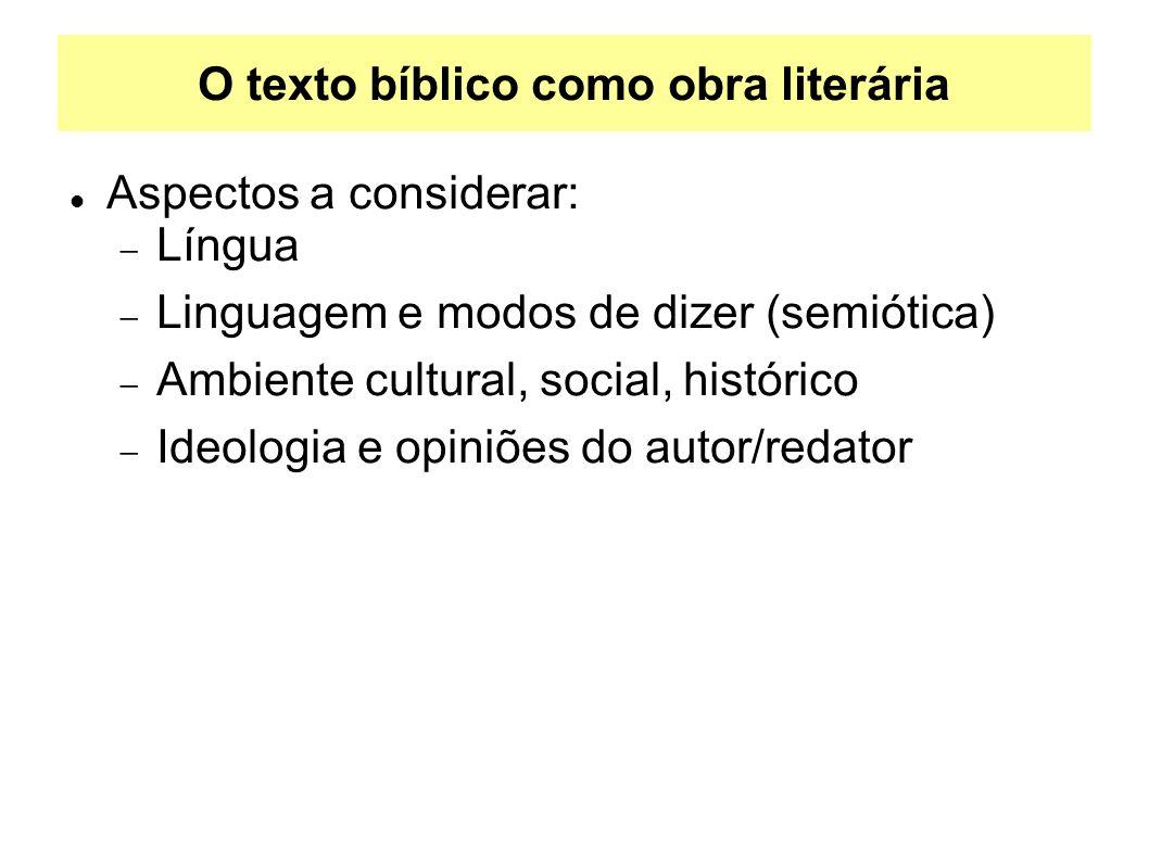 O texto bíblico como obra literária