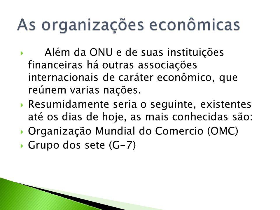 As organizações econômicas