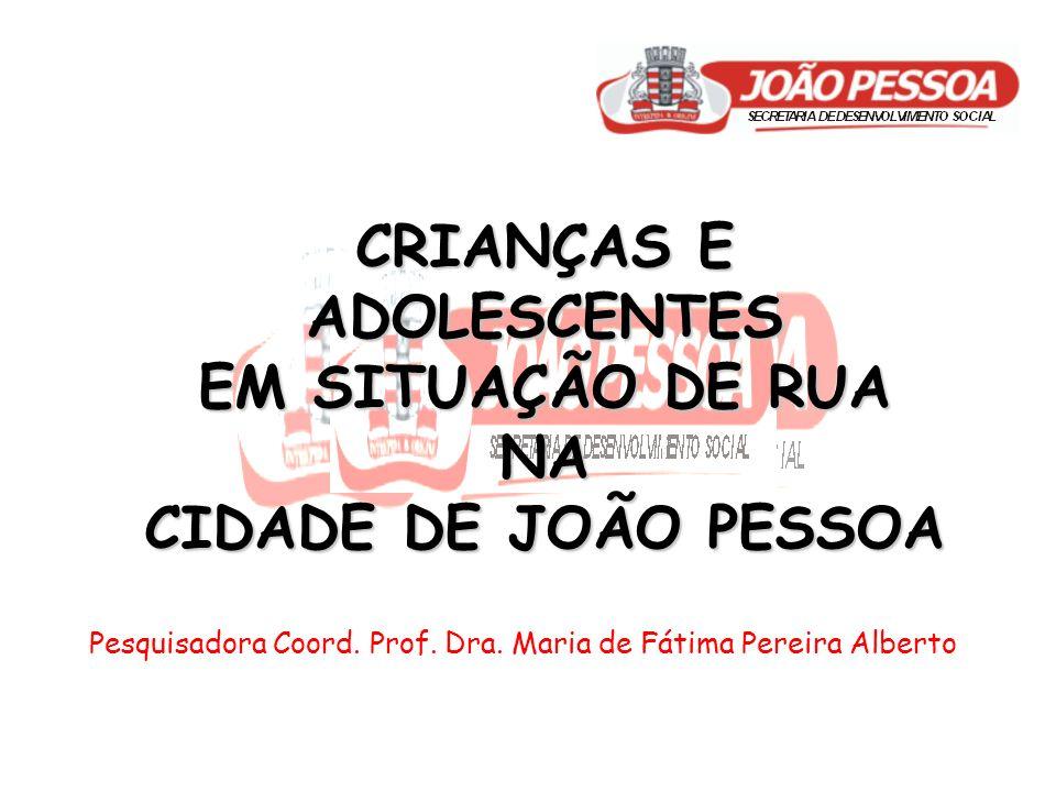 CRIANÇAS E ADOLESCENTES EM SITUAÇÃO DE RUA NA CIDADE DE JOÃO PESSOA