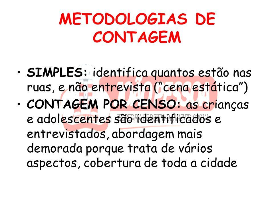 METODOLOGIAS DE CONTAGEM
