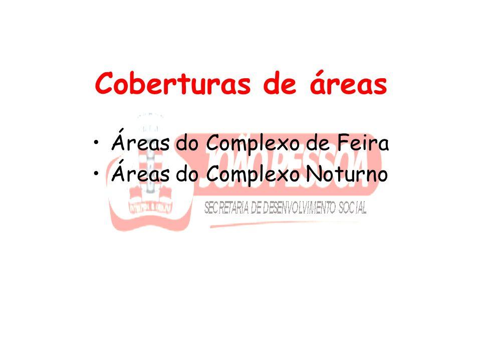 Coberturas de áreas Áreas do Complexo de Feira