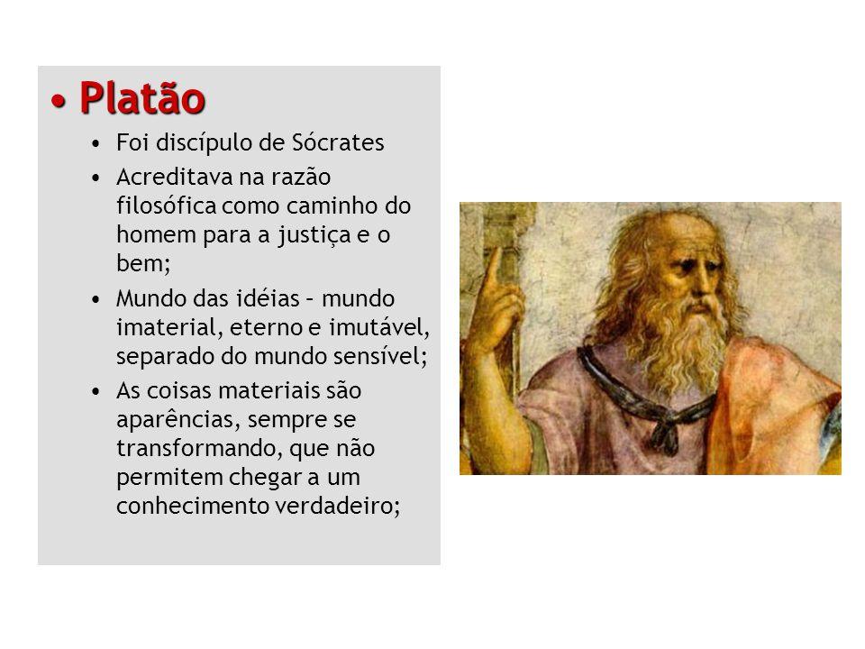 Platão Foi discípulo de Sócrates