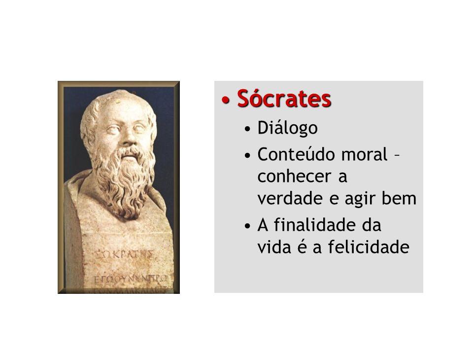 Sócrates Diálogo Conteúdo moral – conhecer a verdade e agir bem