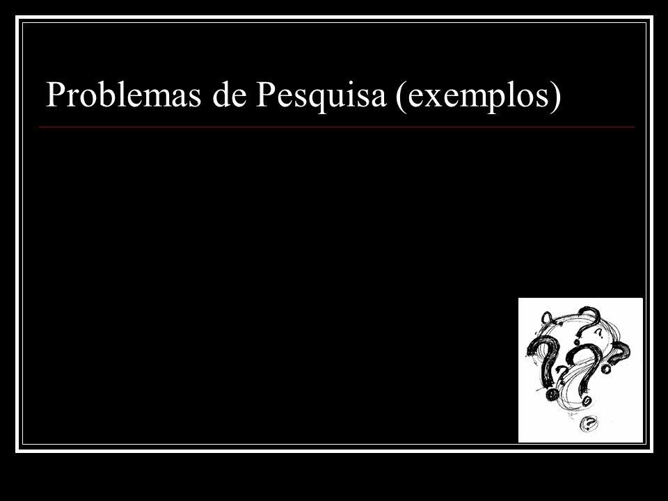 Problemas de Pesquisa (exemplos)