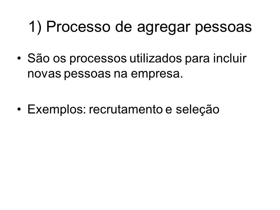 1) Processo de agregar pessoas