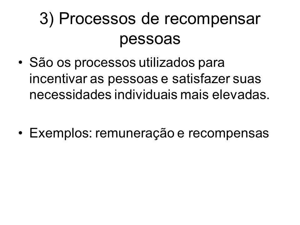 3) Processos de recompensar pessoas