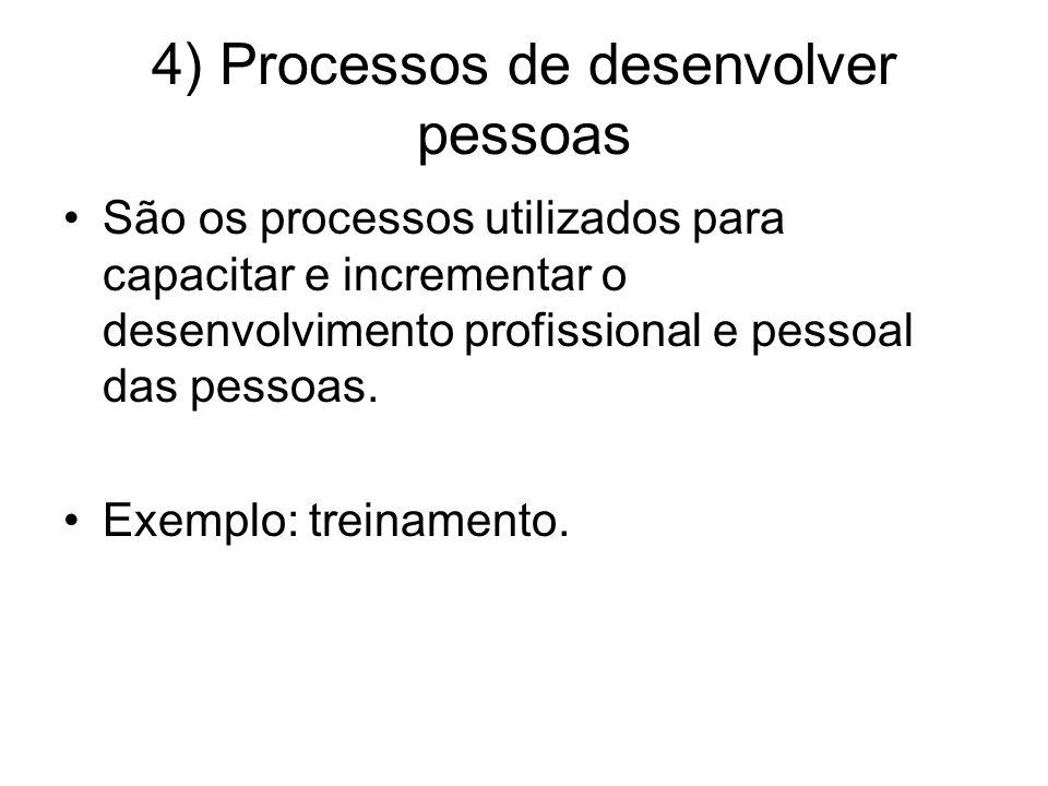 4) Processos de desenvolver pessoas