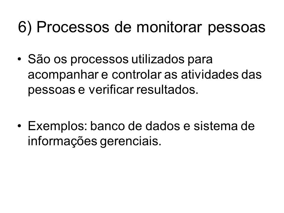 6) Processos de monitorar pessoas