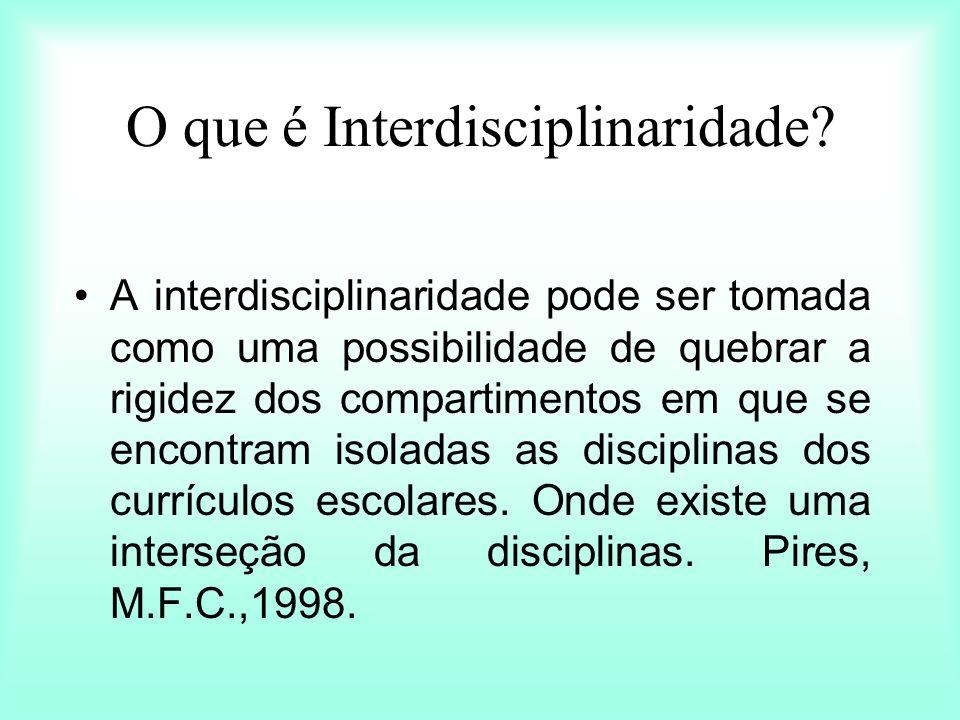 O que é Interdisciplinaridade
