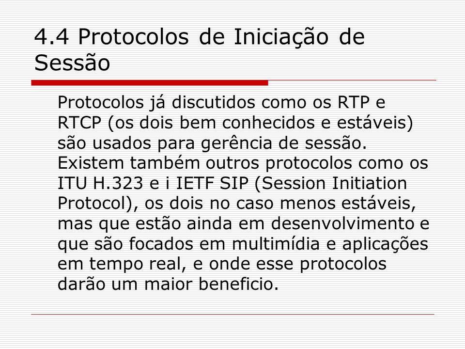 4.4 Protocolos de Iniciação de Sessão