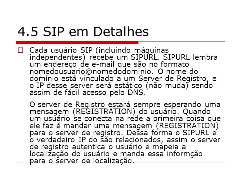 4.5 SIP em Detalhes