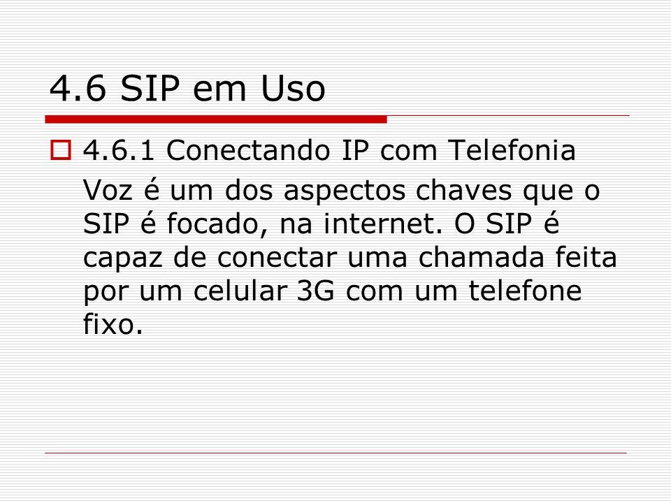 4.6 SIP em Uso 4.6.1 Conectando IP com Telefonia