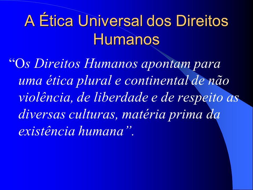 A Ética Universal dos Direitos Humanos