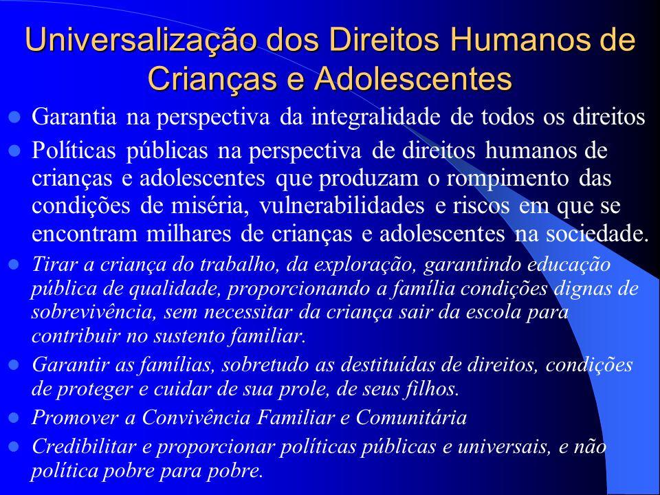 Universalização dos Direitos Humanos de Crianças e Adolescentes