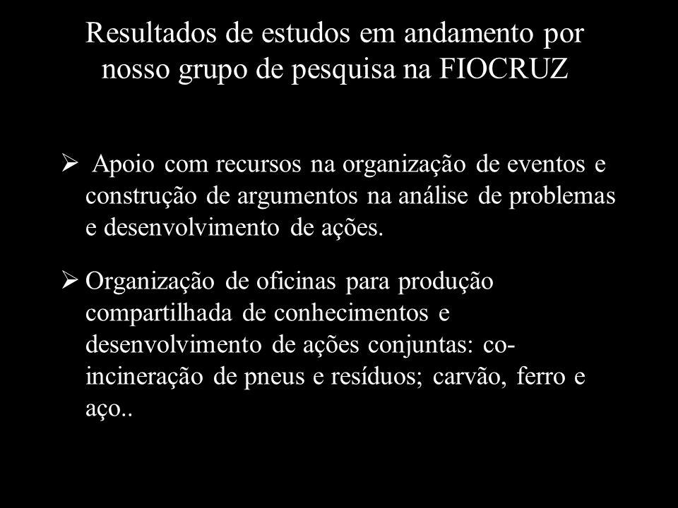 Resultados de estudos em andamento por nosso grupo de pesquisa na FIOCRUZ