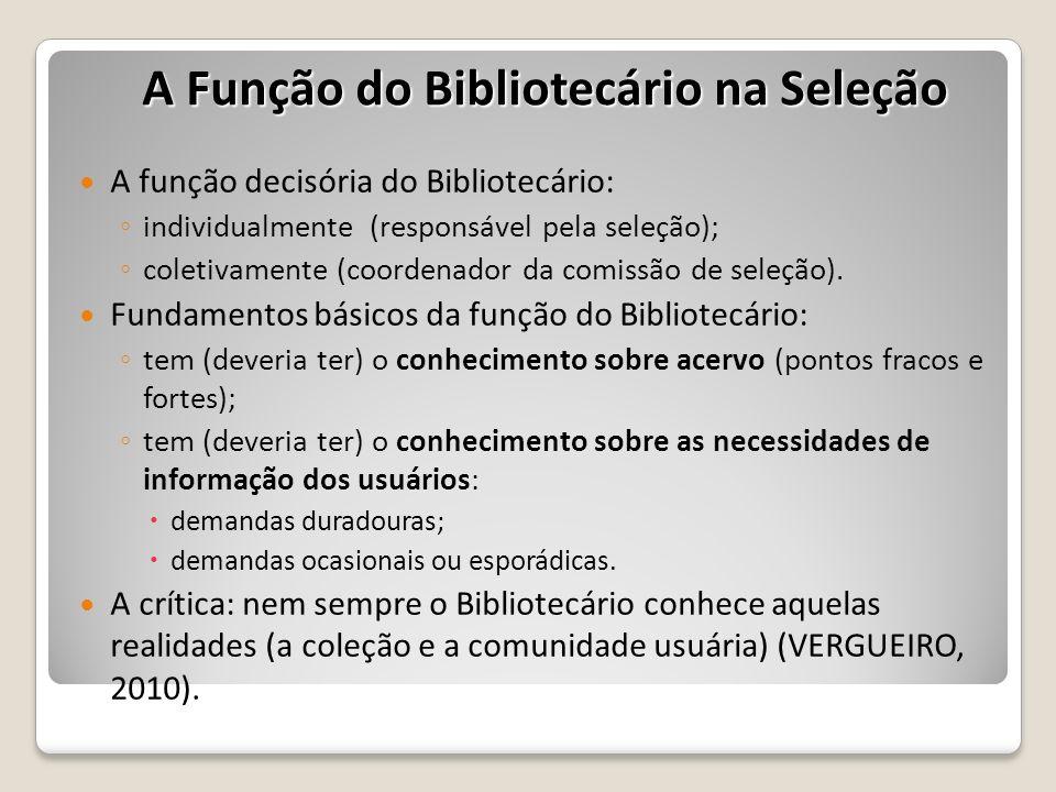 A Função do Bibliotecário na Seleção