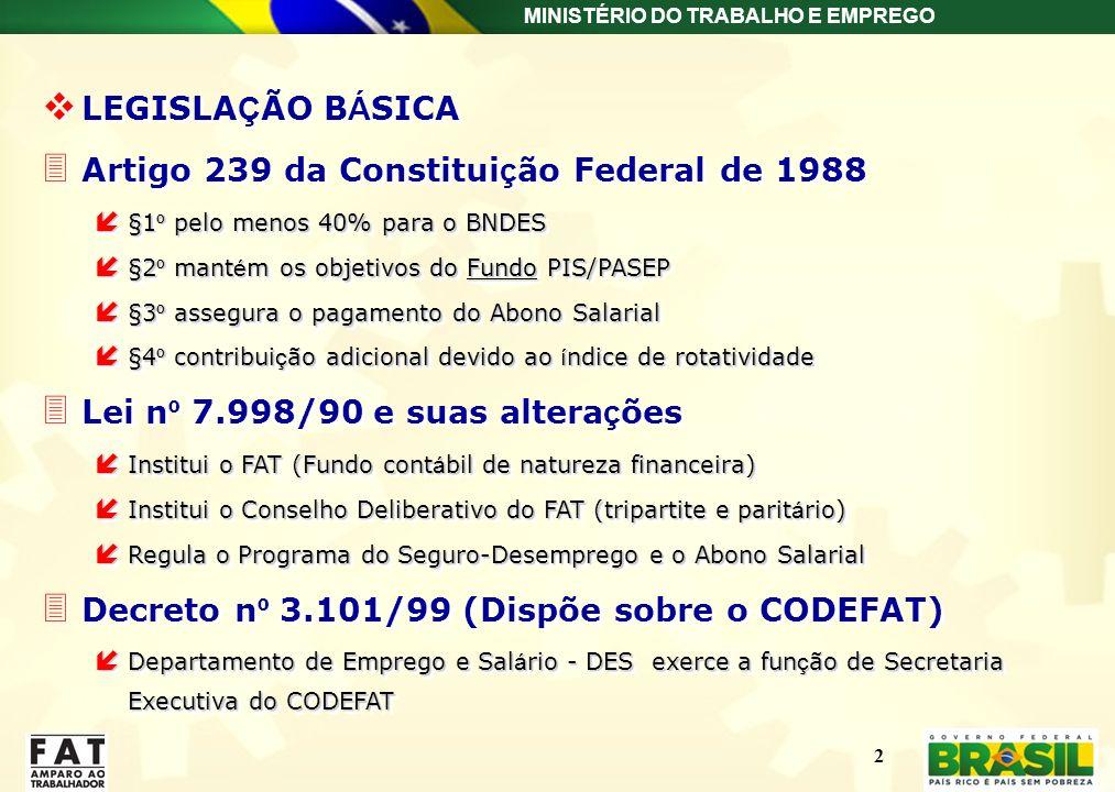 Artigo 239 da Constituição Federal de 1988