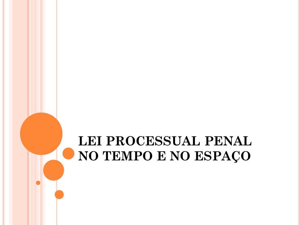 LEI PROCESSUAL PENAL NO TEMPO E NO ESPAÇO