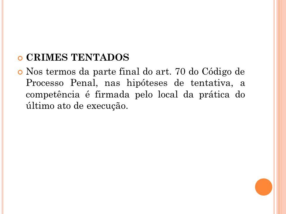 CRIMES TENTADOS