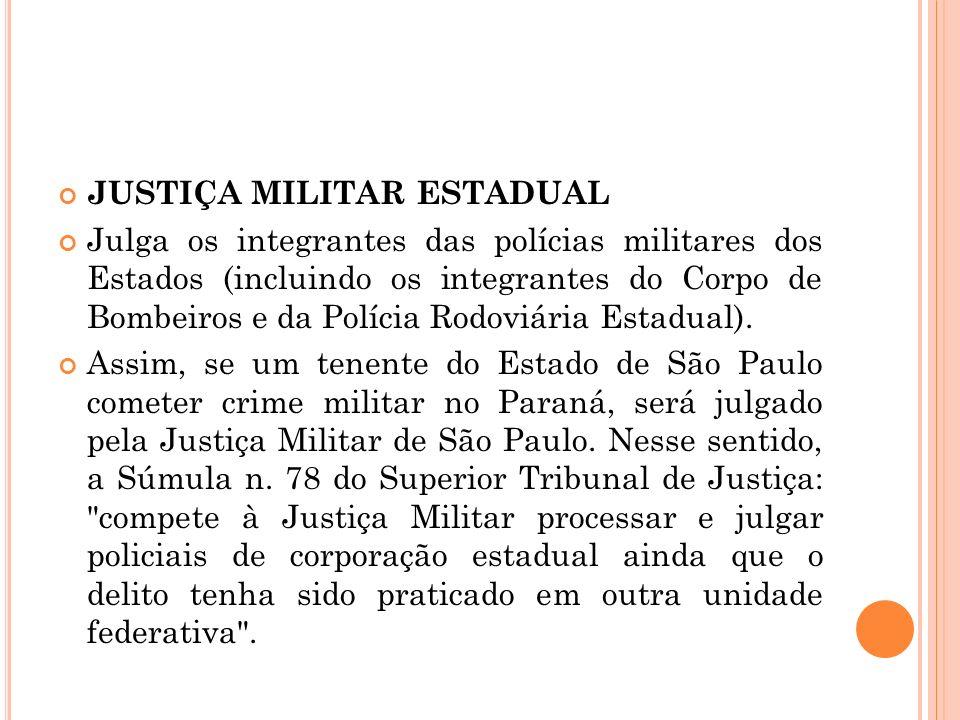 JUSTIÇA MILITAR ESTADUAL