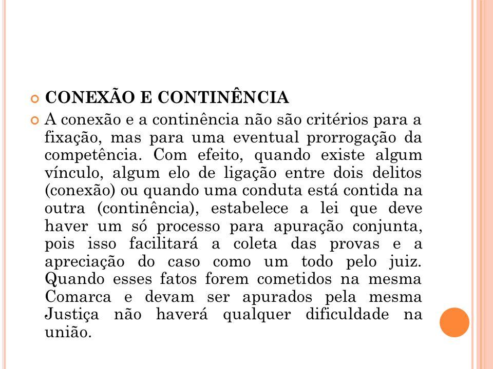 CONEXÃO E CONTINÊNCIA