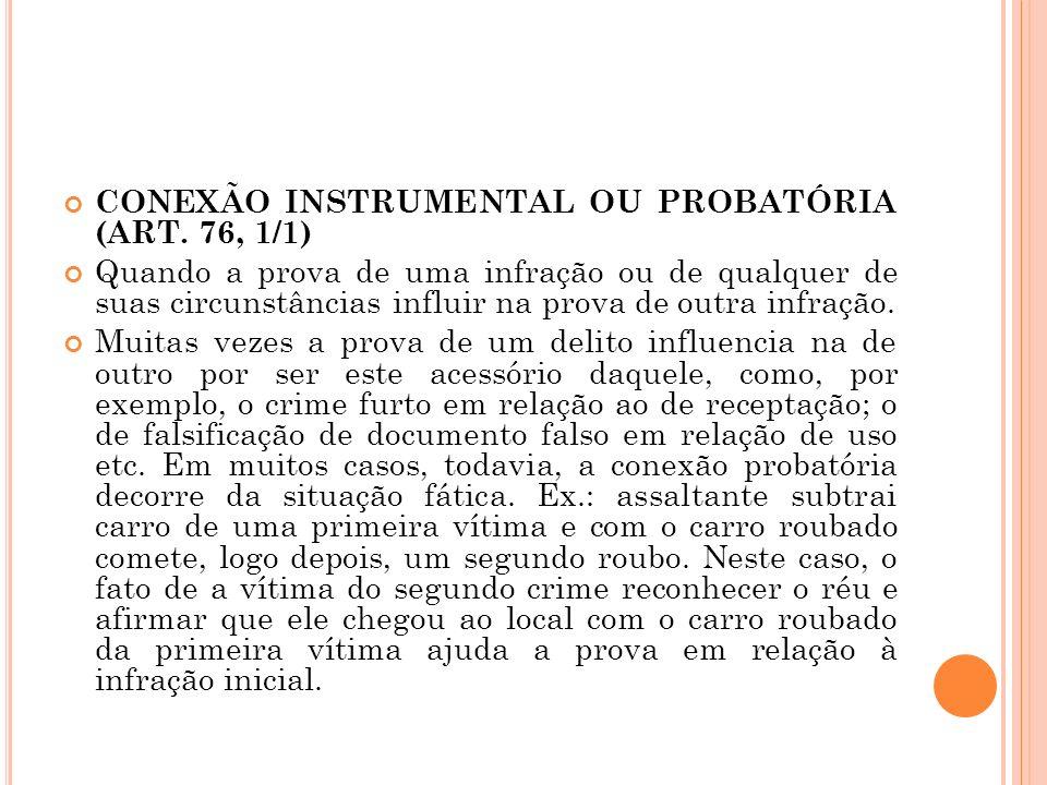 CONEXÃO INSTRUMENTAL OU PROBATÓRIA (ART. 76, 1/1)