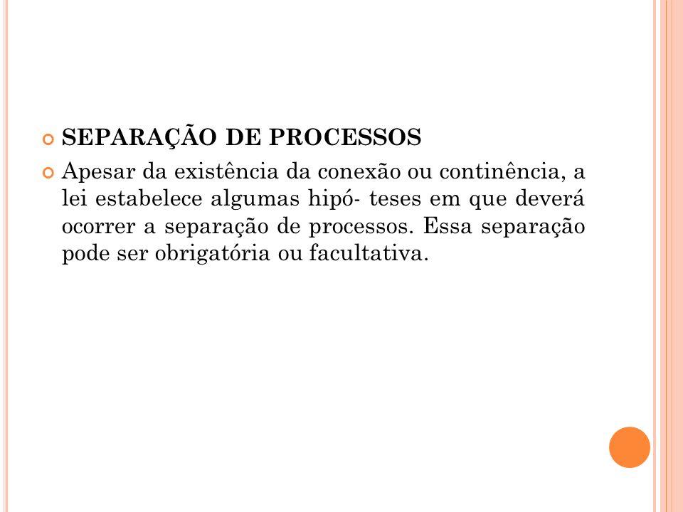 SEPARAÇÃO DE PROCESSOS