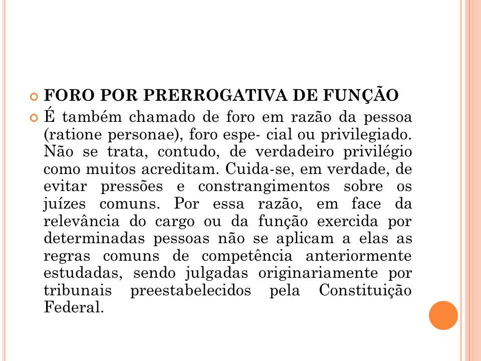 FORO POR PRERROGATIVA DE FUNÇÃO