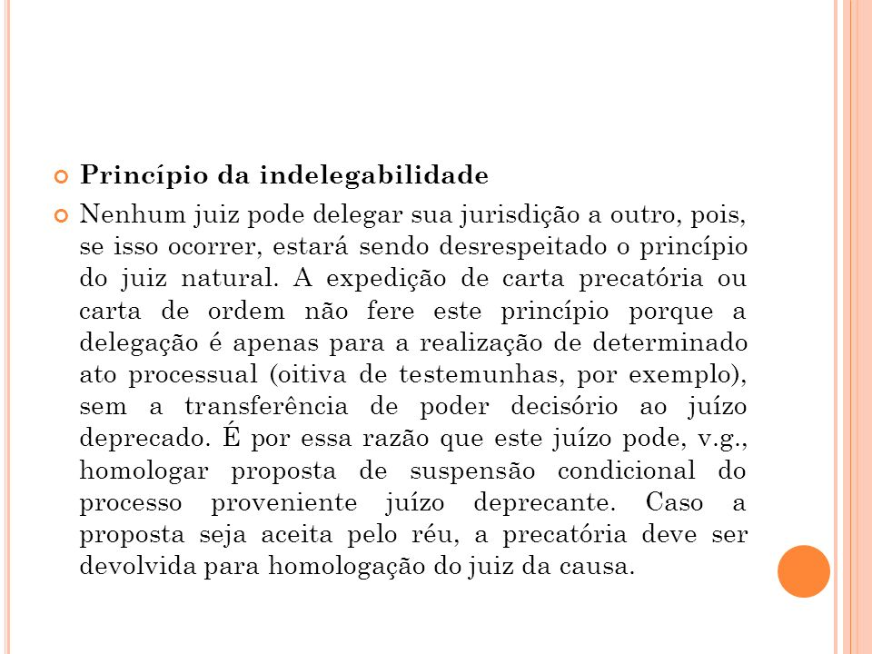 Princípio da indelegabilidade