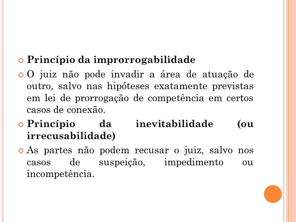 Princípio da improrrogabilidade