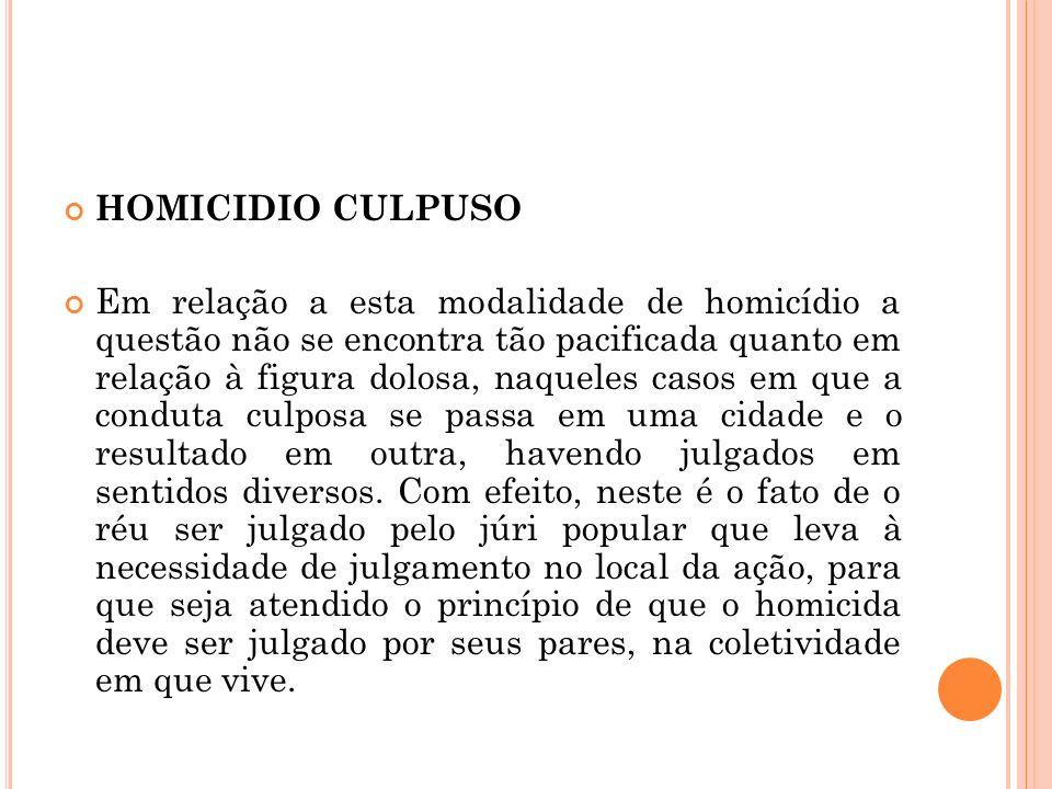 HOMICIDIO CULPUSO