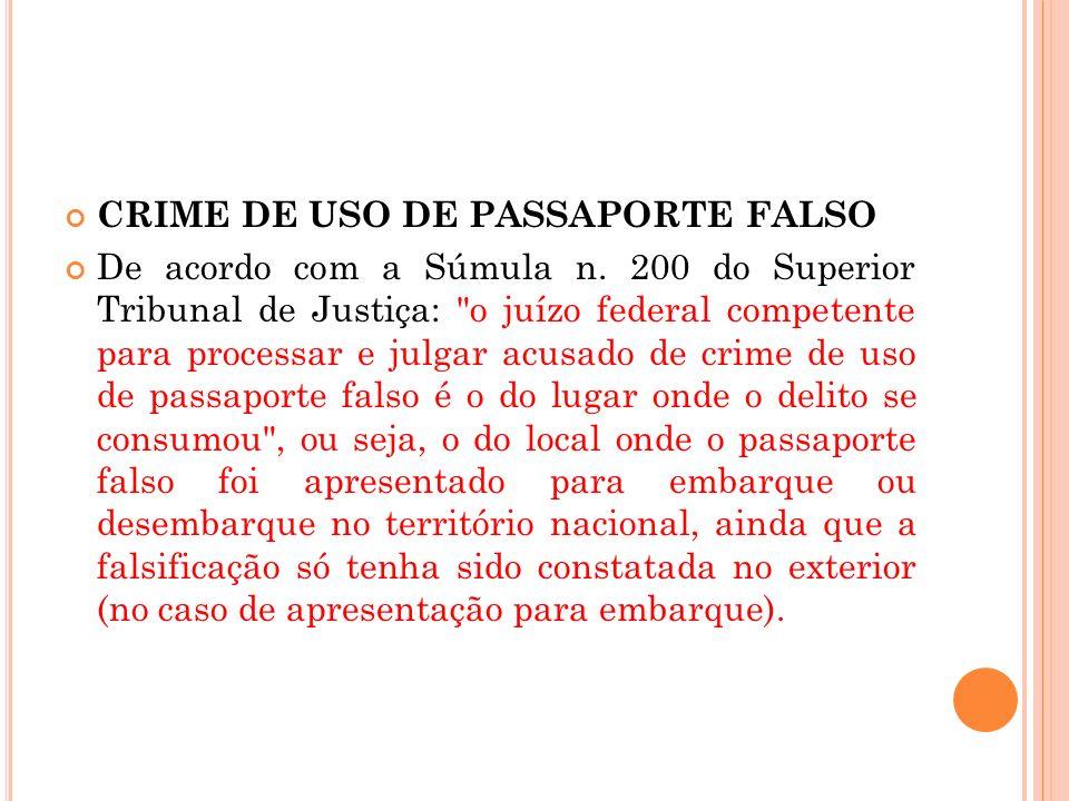 CRIME DE USO DE PASSAPORTE FALSO