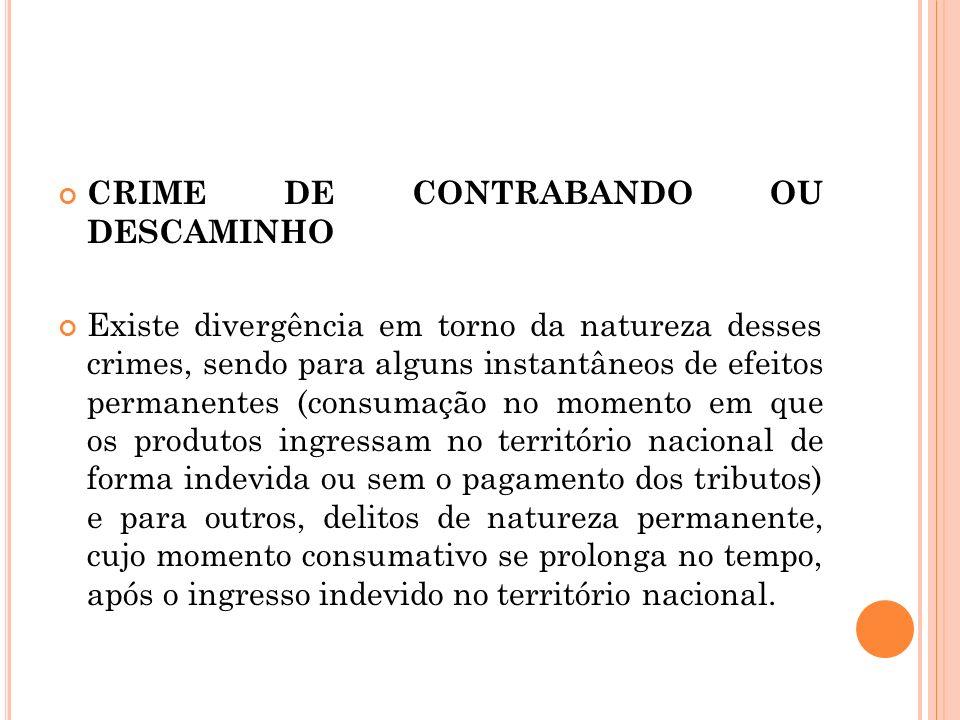 CRIME DE CONTRABANDO OU DESCAMINHO