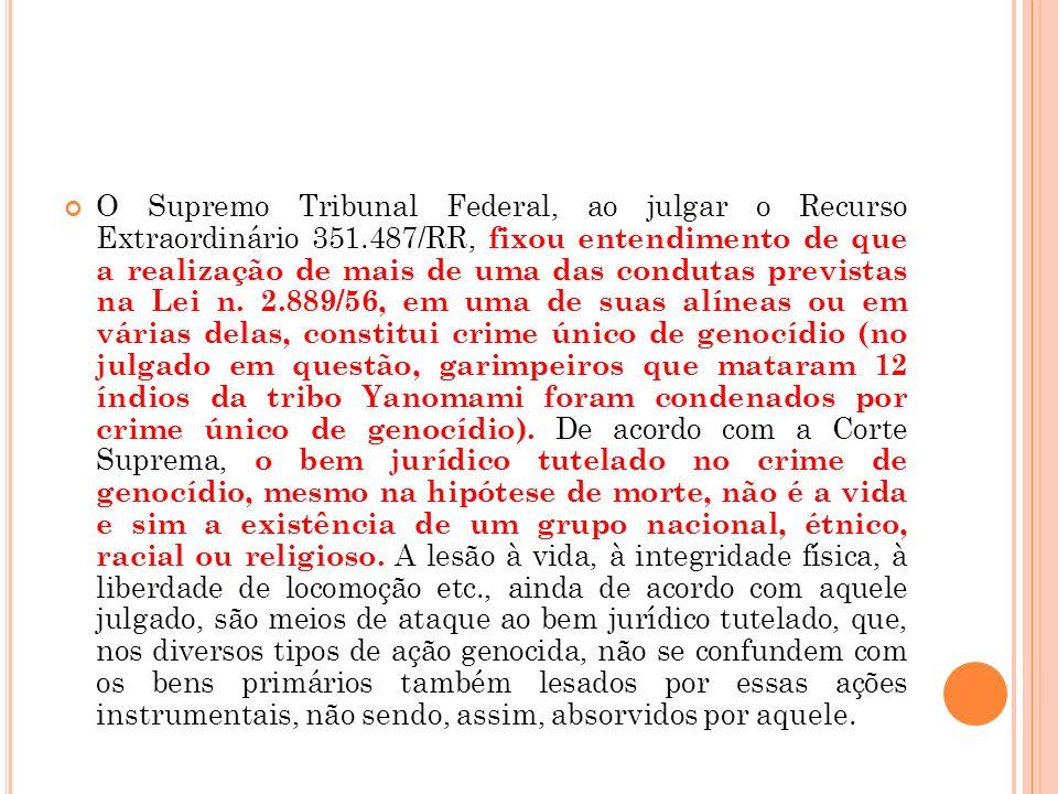 O Supremo Tribunal Federal, ao julgar o Recurso Extraordinário 351
