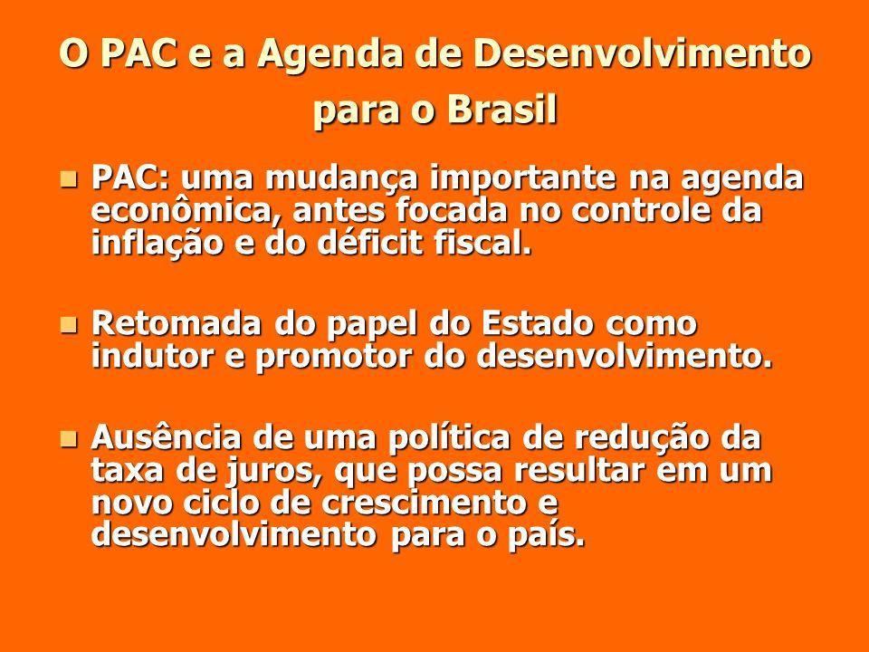 O PAC e a Agenda de Desenvolvimento para o Brasil