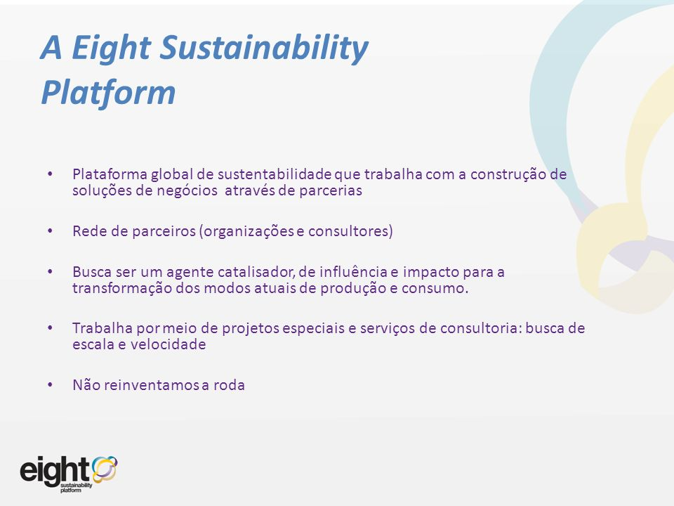A Eight Sustainability Platform