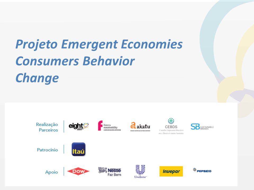 Projeto Emergent Economies Consumers Behavior Change