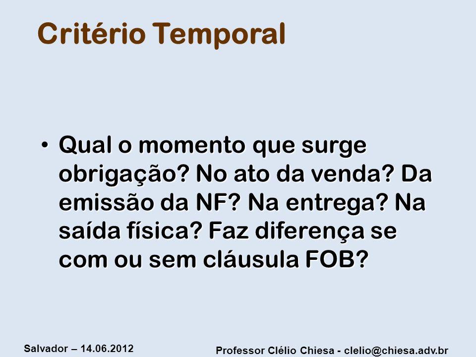Critério Temporal