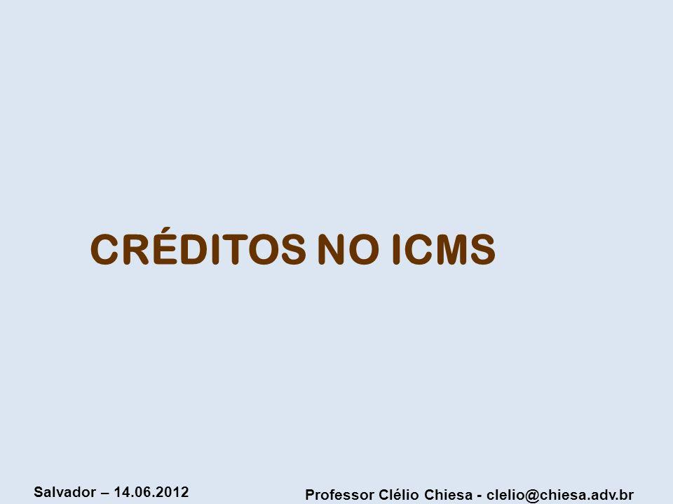 CRÉDITOS NO ICMS