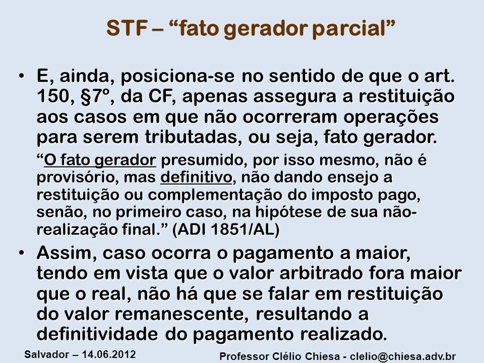 STF – fato gerador parcial