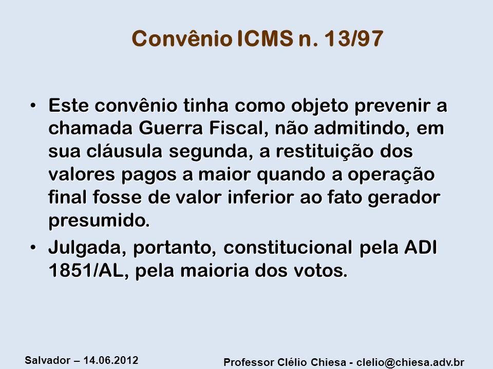 Convênio ICMS n. 13/97
