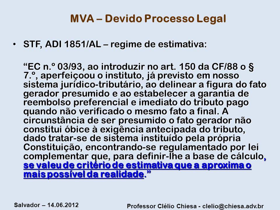 MVA – Devido Processo Legal