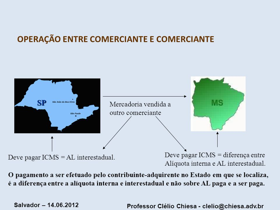 OPERAÇÃO ENTRE COMERCIANTE E COMERCIANTE