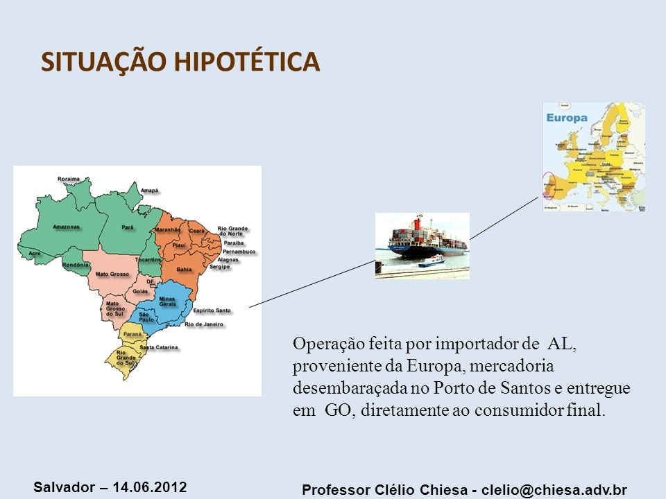 SITUAÇÃO HIPOTÉTICA