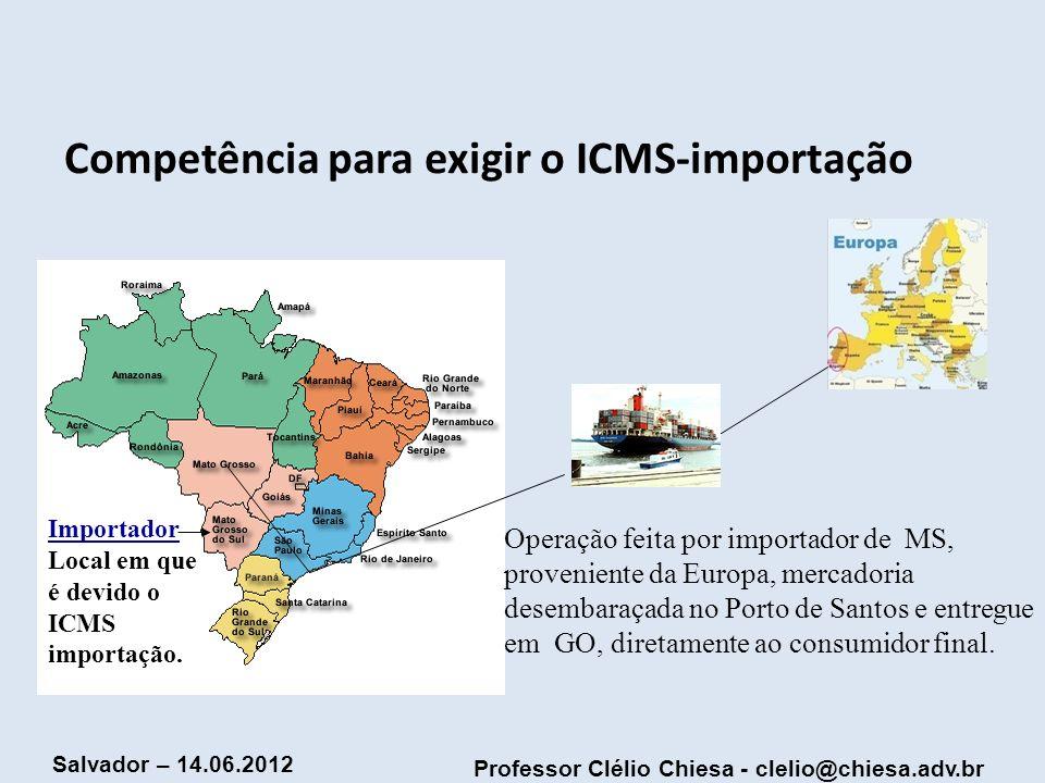 Competência para exigir o ICMS-importação