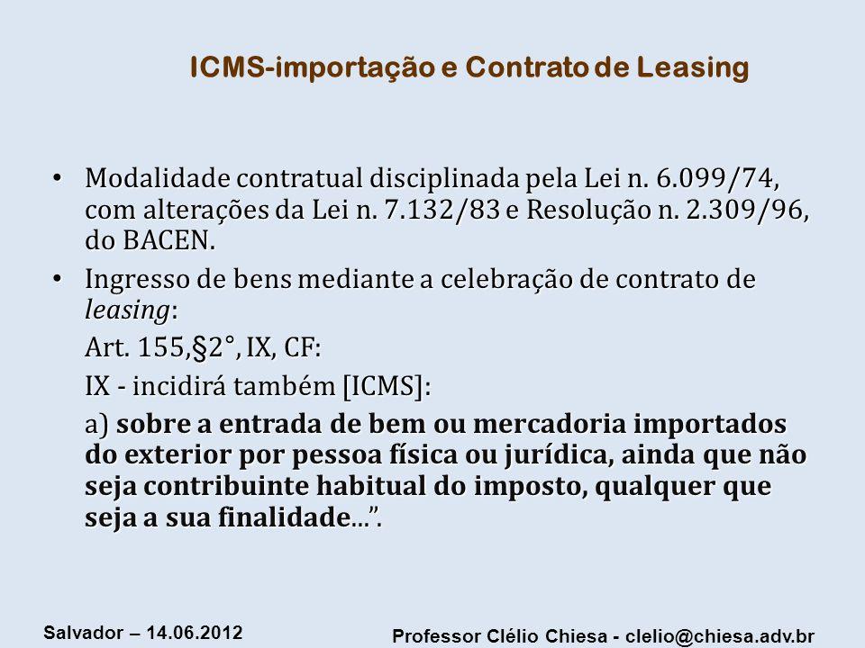 ICMS-importação e Contrato de Leasing