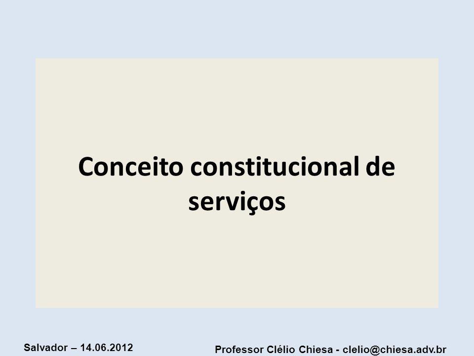Conceito constitucional de serviços