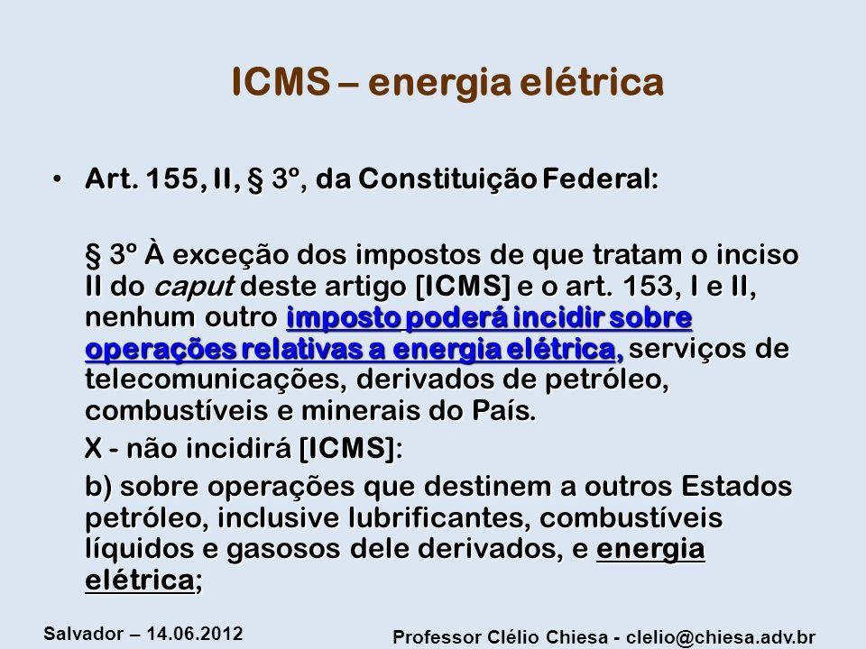 ICMS – energia elétrica