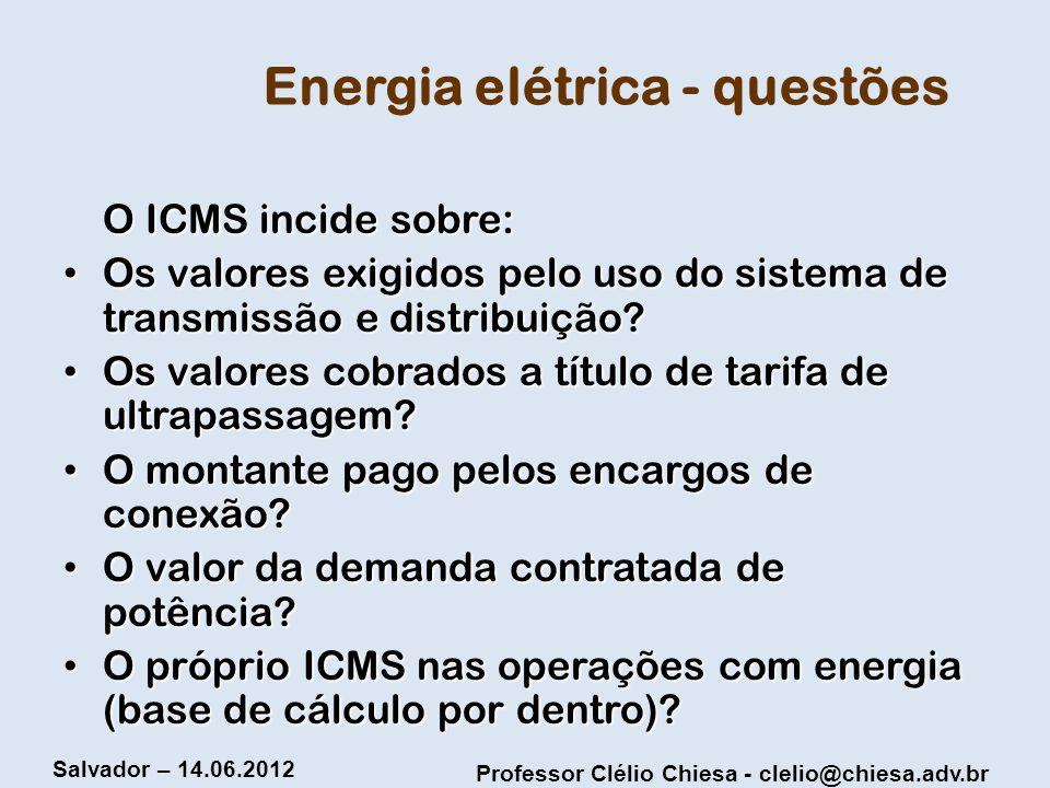 Energia elétrica - questões